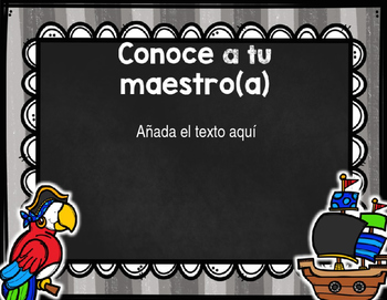Back to School PowerPoint - Pirate {SPANISH}
