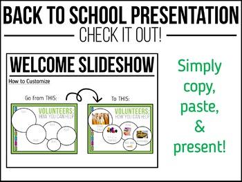 Back to School PowerPoint Presentation {Bubble Format}