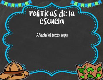 Back to School PowerPoint - Safari {SPANISH}