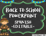 Back to School PowerPoint - Safari {SPANISH}