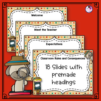 Back to School PowerPoint Scrappy Detective **editable**