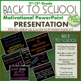 Back to School PowerPoint Slide Show-Motivational
