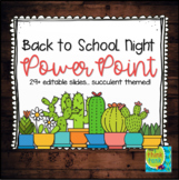 Back to School PowerPoint - Succulents Themed