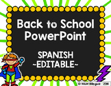 Back to School PowerPoint - SuperHero {SPANISH}