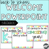 Back to School Powerpoint {Editable}