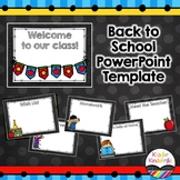 *Back to School Powerpoint Presentation (Editable)