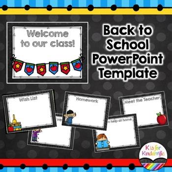 *Back to School Powerpoint Presentation (Editable)
