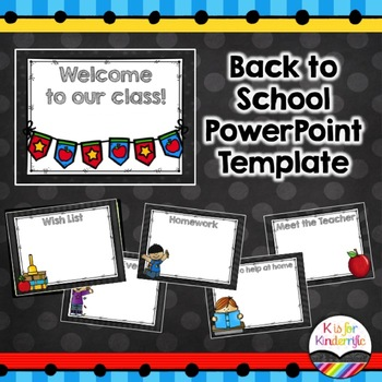 Back to School Powerpoint Presentation (Editable)