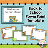 Back to School Powerpoint Presentation (Editable)
