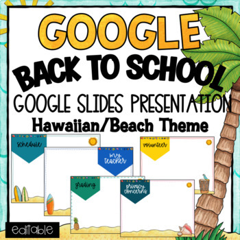 back to school- powerpoint template- editable ~ hawaiian/luau theme, Modern powerpoint