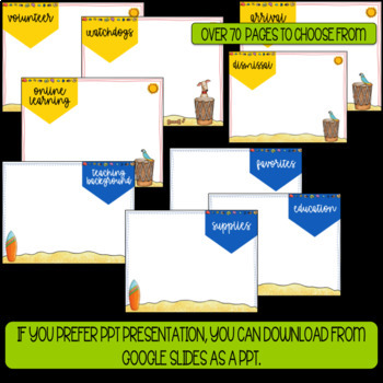 Back to School- Powerpoint Template- Editable - Hawaiian/Luau Theme