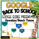 Back to School- Powerpoint Template- Editable ~ Hawaiian/L