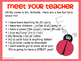 Back to School Powerpoint for Open House Ladybug Theme