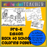 Back to School Pre-K Coloring Pages