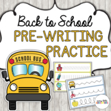 Back to School Pre-Writing Practice