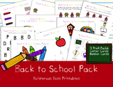 Back to School PreK Printable Learning Pack Bundle