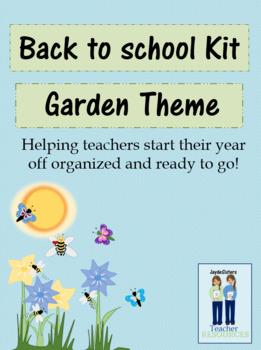 Back to School Preparation Kit Garden Theme