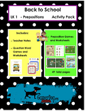 Back to School - Preposition / Question Word Activity Pack
