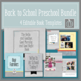 Back to School Preschool Bundle  Editable Book Templates