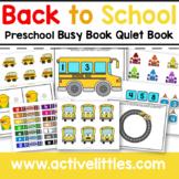 Back to School Preschool Activities Busy Book Binder - August