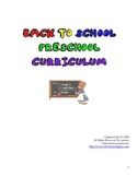 Back to School Preschool / Kindergarten Curriculum