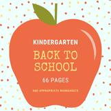 Back to School - Preschool & Kindergarten Worksheets