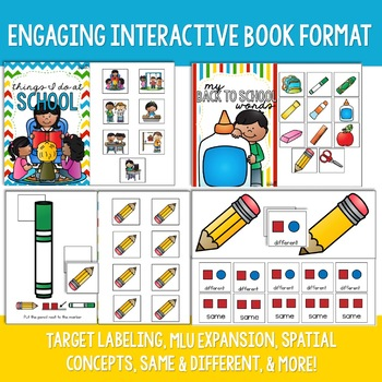 Back to School Preschool Language Unit