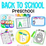 Back to School Preschool Centers, Activities, Worksheets,
