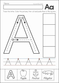 letter a activity sheet back to school preschool no prep worksheets amp activities 9587