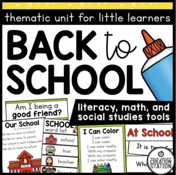 BACK TO SCHOOL FOR PRESCHOOL, PRE-K AND KINDERGARTEN
