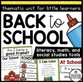 BACK TO SCHOOL FOR PRESCHOOL PRE-K KINDERGARTEN | BEGINNIN