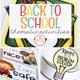 BACK TO SCHOOL FOR PRESCHOOL, PRE-K AND KINDERGARTEN