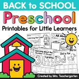 Back to School Preschool - Printables for Little Learners