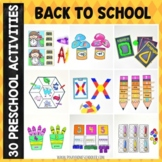 Back to School Preschool Unit