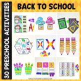 Back to School Preschool Unit
