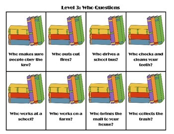 Back to School Preschool WH Questions Packet