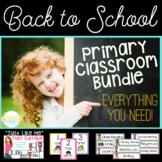 Back to School Primary Classroom BUNDLE