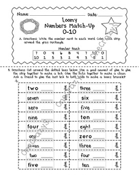 Match Numbers, Letters, Color Words - Loomy Bracelets