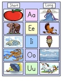 Back-to-School Primary Long/Short Vowel Charts
