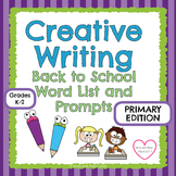 Back to School Primary Word List and Prompts