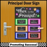 Where is the Principal Door Sign, Bosses Day Gift NOT EDITABLE