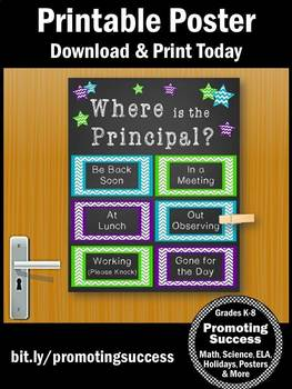 Where is the Principal Poster, Office Door Sign