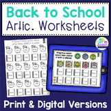 Back to School Articulation Worksheets