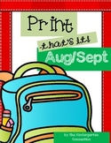 Back to School Print-That's It! Kindergarten Math and Lite