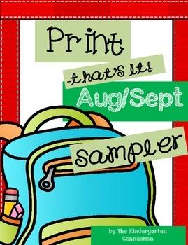 Back to School Print-That's It! SAMPLER
