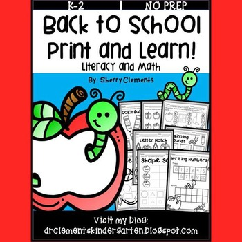 Back to School (Print and Learn)