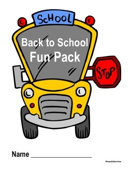 Back to School Printable Activities Fun Pack