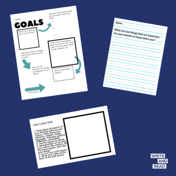 Back to School Printable Activities for Middle and High School