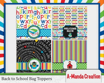 Back to School Printable Bag Toppers