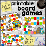 Back to School Printable Board Games | NO PREP for Any Skill